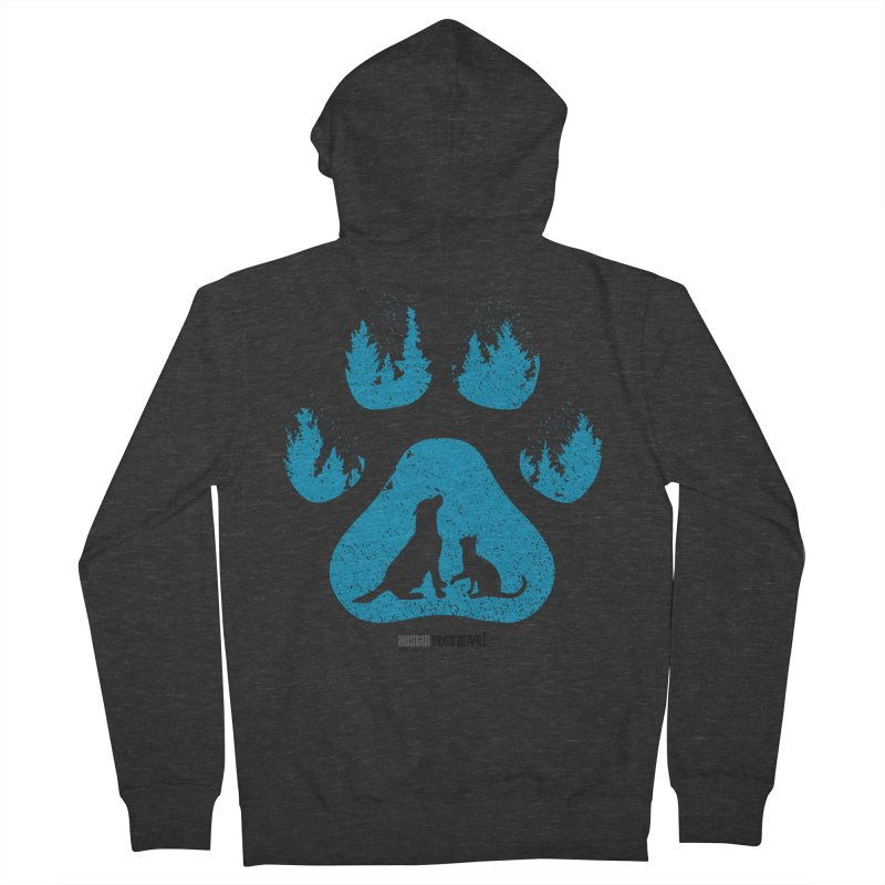 Forest Paw Men's Zip-Up Hoody by Austin Pets Alive's Artist Shop
