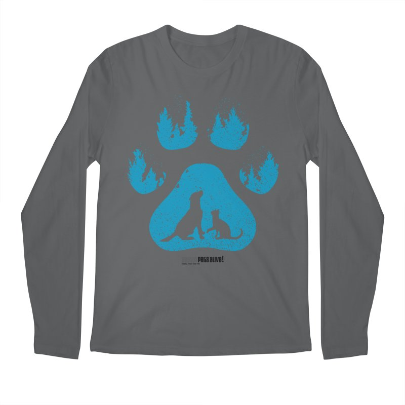 Forest Paw Men's Longsleeve T-Shirt by Austin Pets Alive's Artist Shop
