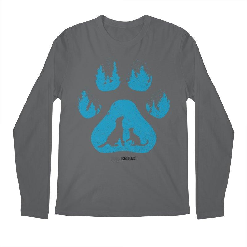 Forest Paw Men's Regular Longsleeve T-Shirt by Austin Pets Alive's Artist Shop