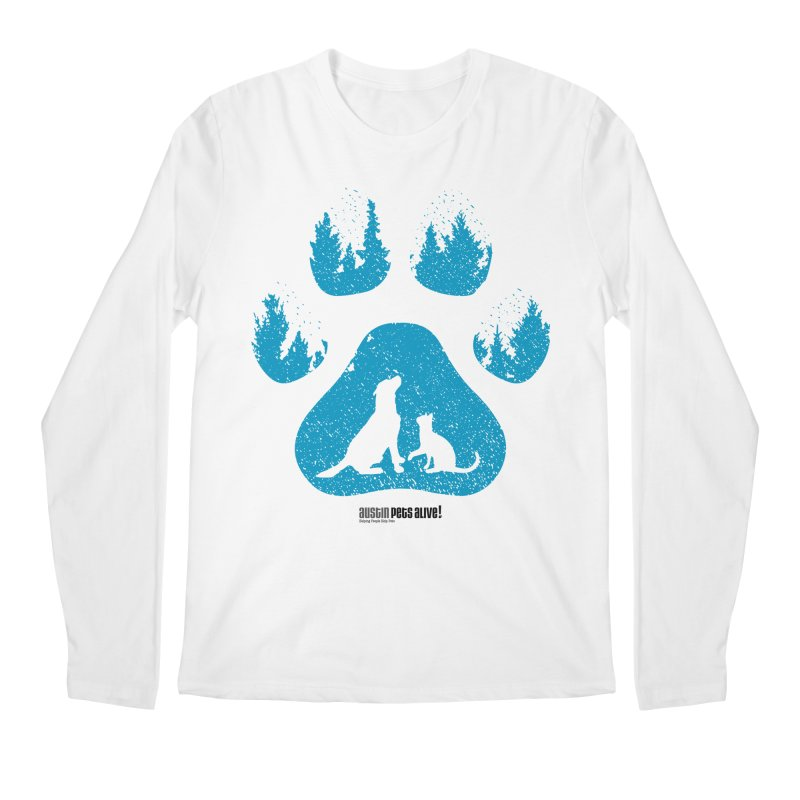 Forest Paw Men's Regular Longsleeve T-Shirt by Austin Pets Alive's Artist Shop