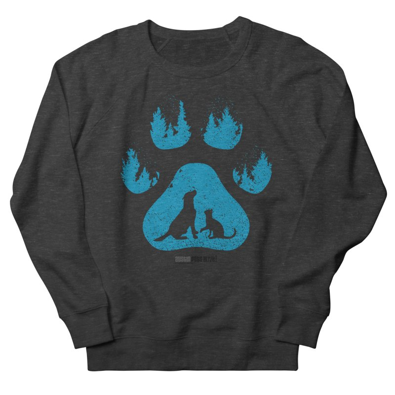 Forest Paw Women's French Terry Sweatshirt by Austin Pets Alive's Artist Shop