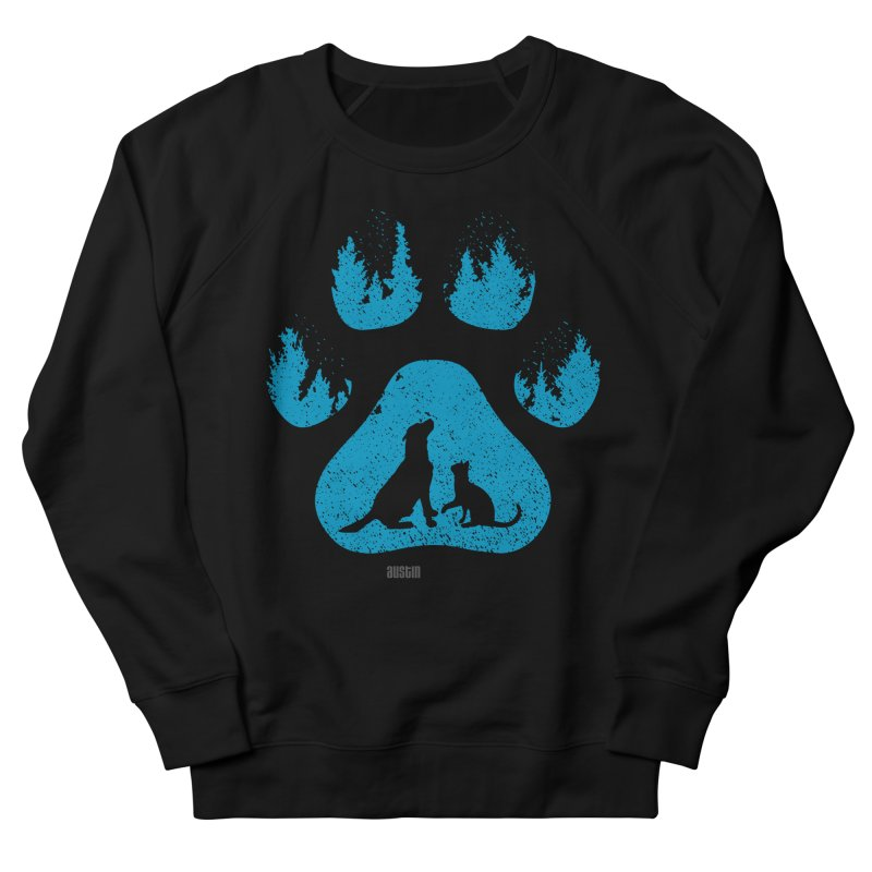Forest Paw Men's French Terry Sweatshirt by Austin Pets Alive's Artist Shop