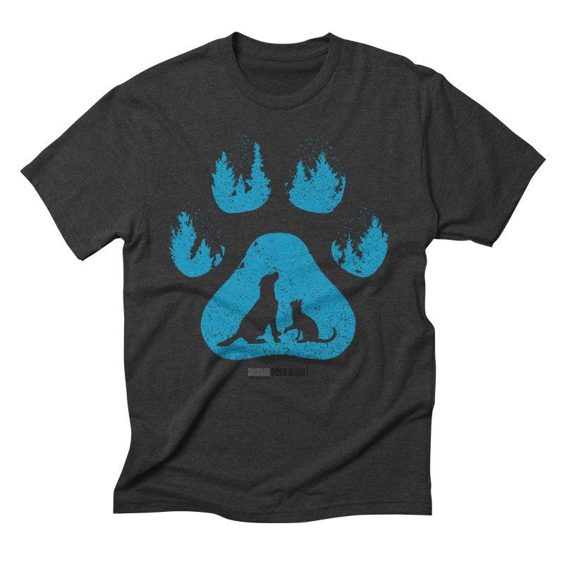 Forest Paw Men's Triblend T-Shirt by austinpetsalive's Artist Shop