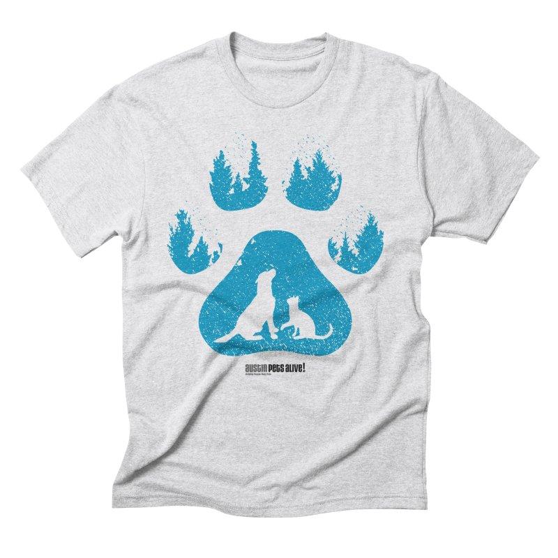 Forest Paw Men's Triblend T-Shirt by Austin Pets Alive's Artist Shop