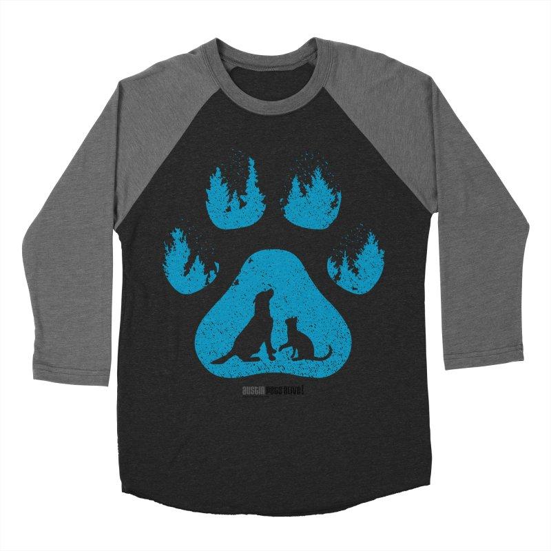 Forest Paw Men's Baseball Triblend Longsleeve T-Shirt by Austin Pets Alive's Artist Shop