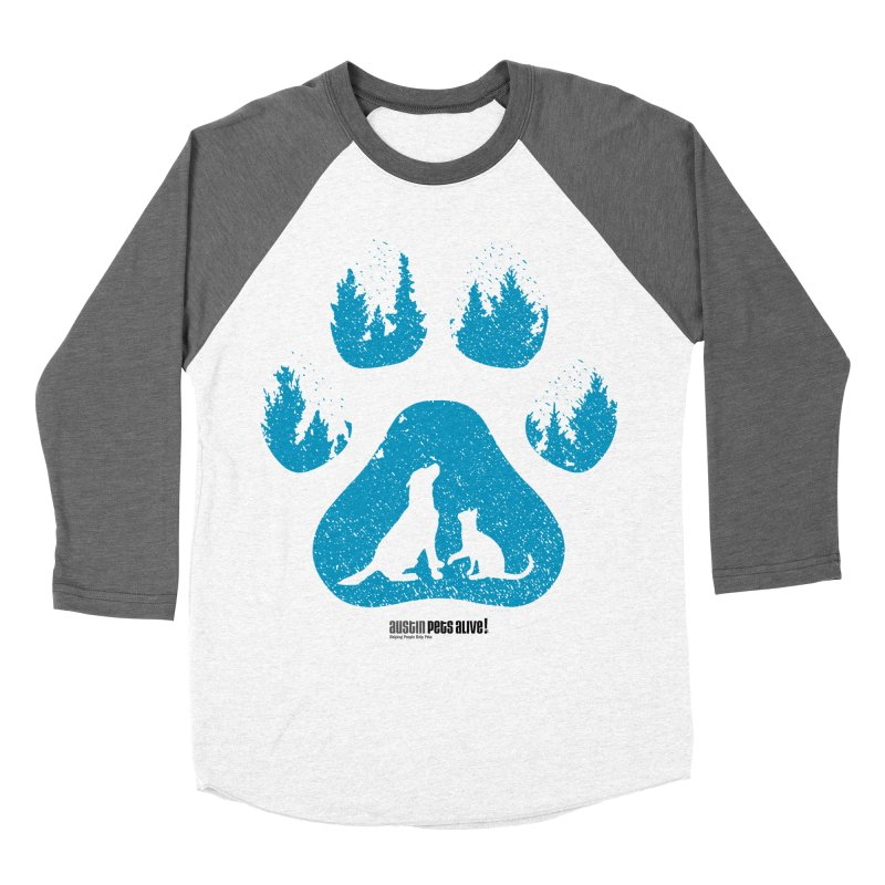 Forest Paw Men's Baseball Triblend Longsleeve T-Shirt by austinpetsalive's Artist Shop