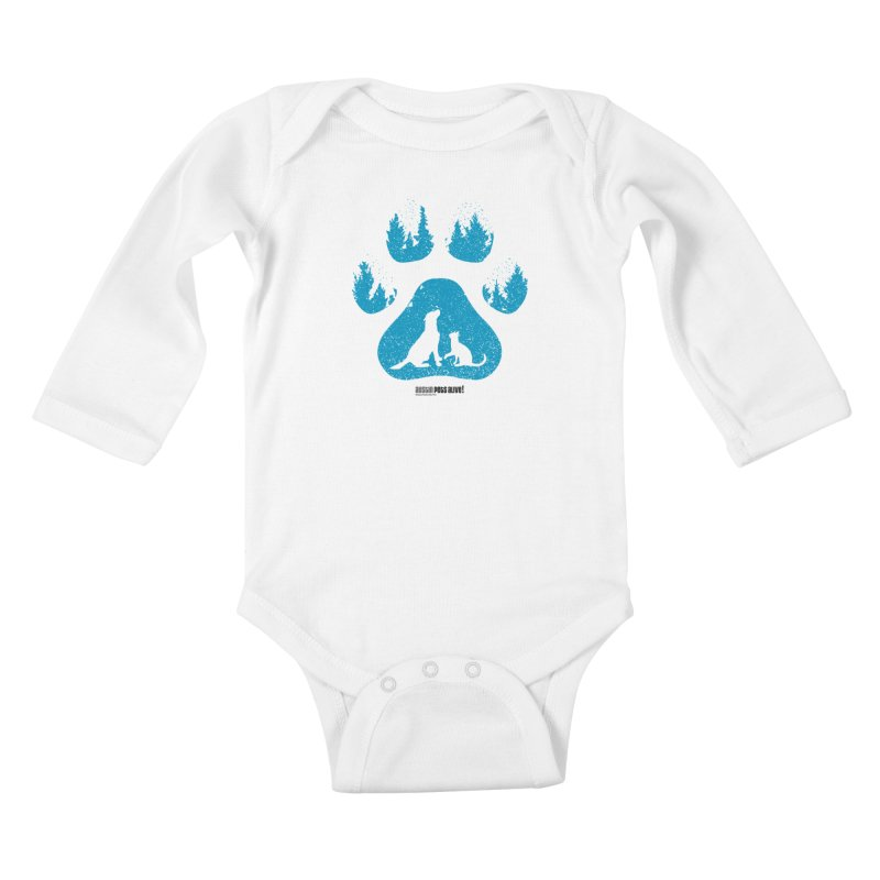 Forest Paw Kids Baby Longsleeve Bodysuit by Austin Pets Alive's Artist Shop