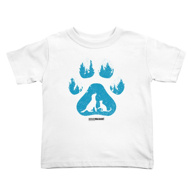 Forest Paw Kids Toddler T-Shirt by austinpetsalive's Artist Shop
