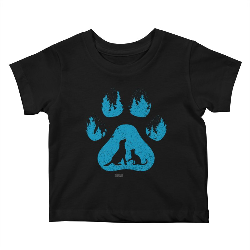 Forest Paw Kids Baby T-Shirt by austinpetsalive's Artist Shop