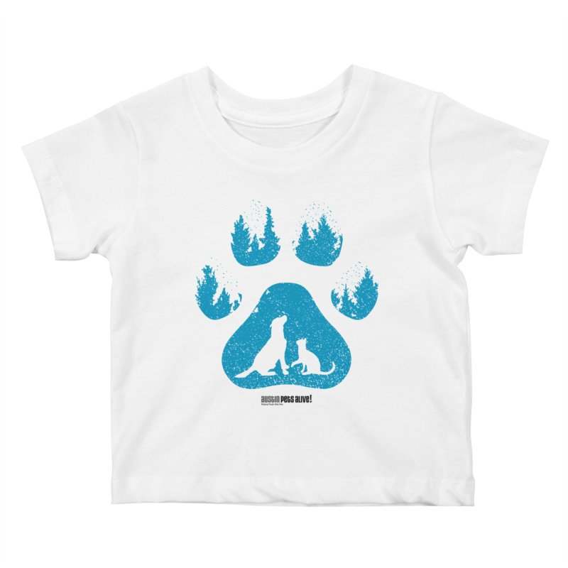 Forest Paw Kids Baby T-Shirt by Austin Pets Alive's Artist Shop
