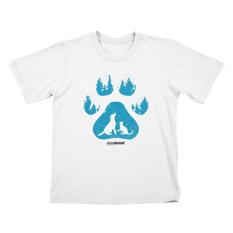 Forest Paw Kids T-Shirt by Austin Pets Alive's Artist Shop