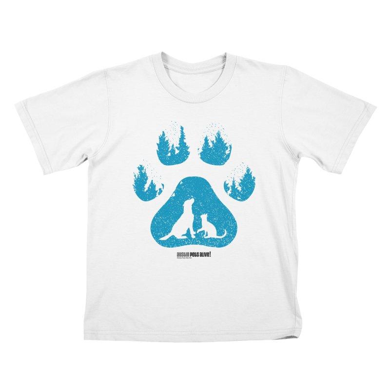 Forest Paw Kids T-Shirt by Austin Pets Alive's Artist Shop