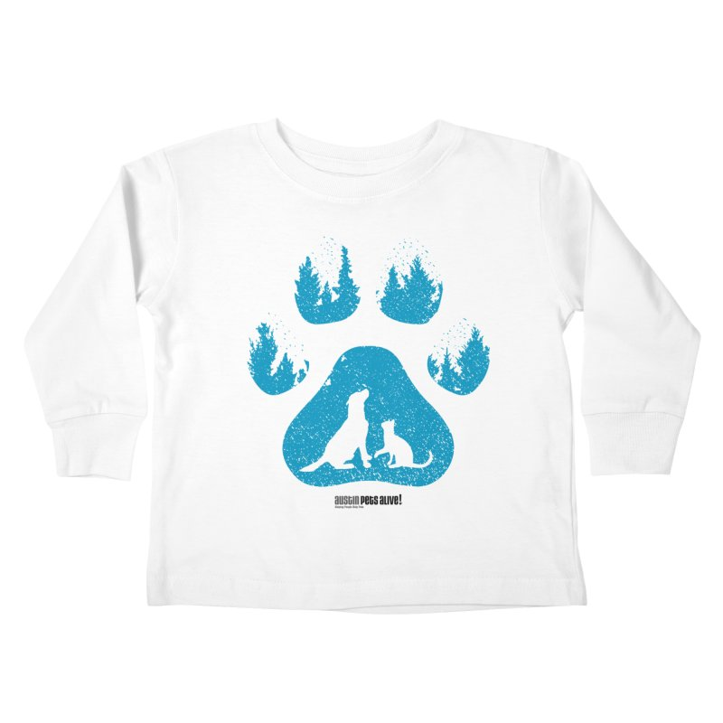 Forest Paw Kids Toddler Longsleeve T-Shirt by Austin Pets Alive's Artist Shop