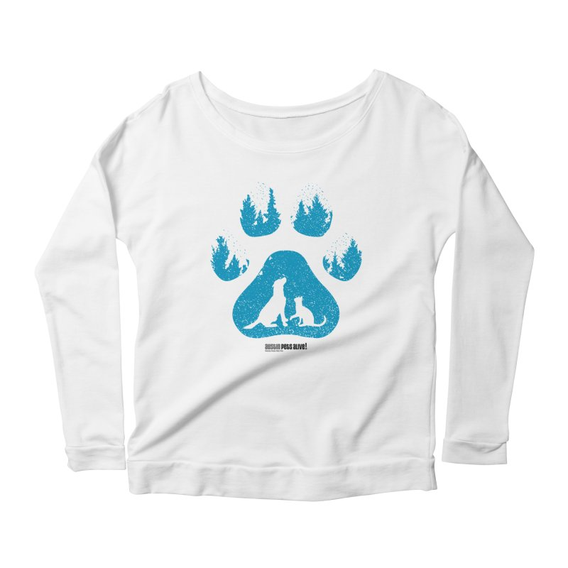 Forest Paw Women's Scoop Neck Longsleeve T-Shirt by Austin Pets Alive's Artist Shop