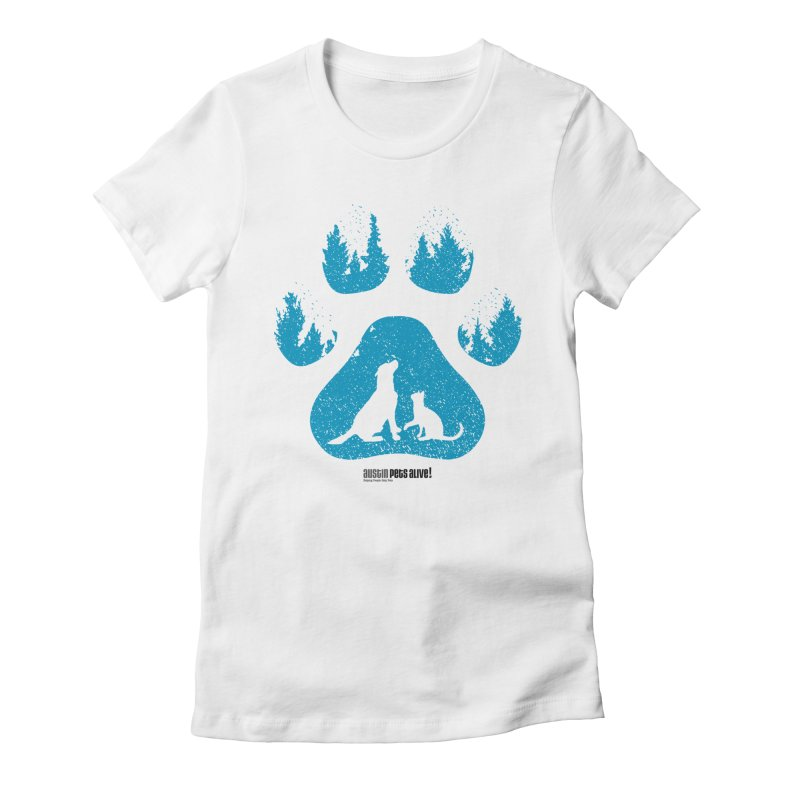 Forest Paw Women's Fitted T-Shirt by austinpetsalive's Artist Shop