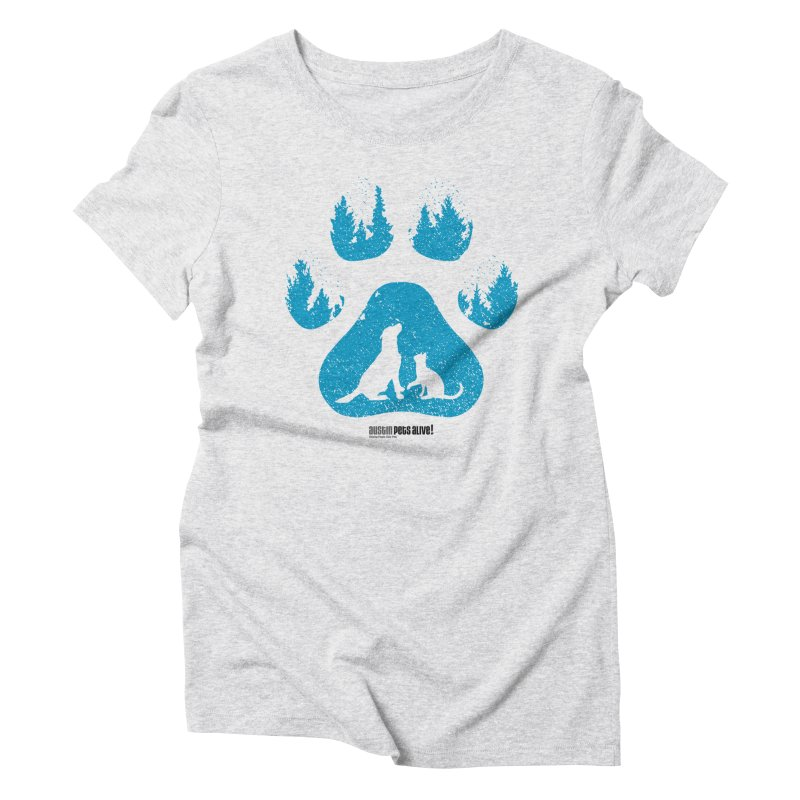 Forest Paw Women's Triblend T-Shirt by austinpetsalive's Artist Shop