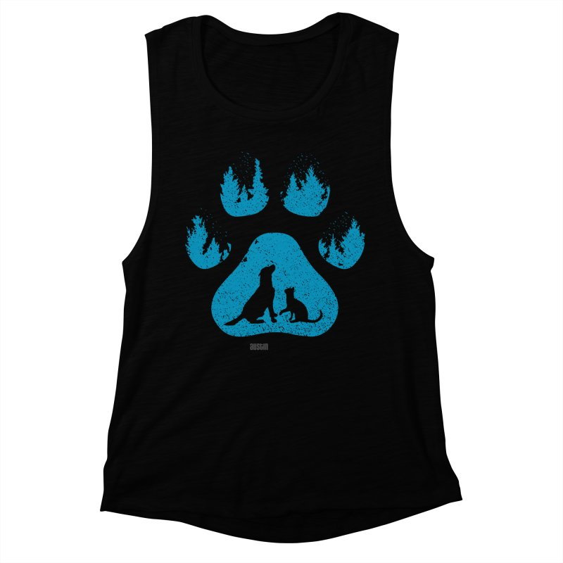 Forest Paw Women's Muscle Tank by Austin Pets Alive's Artist Shop