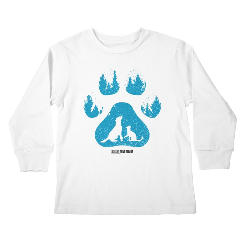Forest Paw Kids Longsleeve T-Shirt by Austin Pets Alive's Artist Shop
