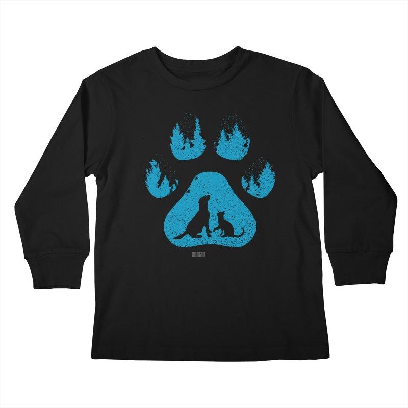 Forest Paw Kids Longsleeve T-Shirt by austinpetsalive's Artist Shop