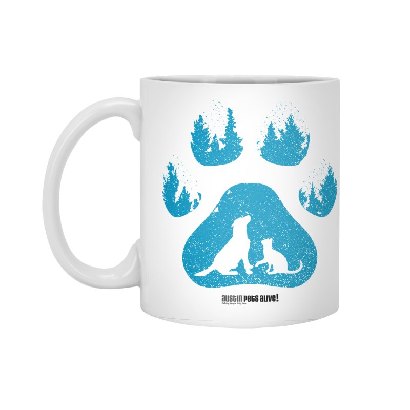 Forest Paw Accessories Standard Mug by Austin Pets Alive's Artist Shop