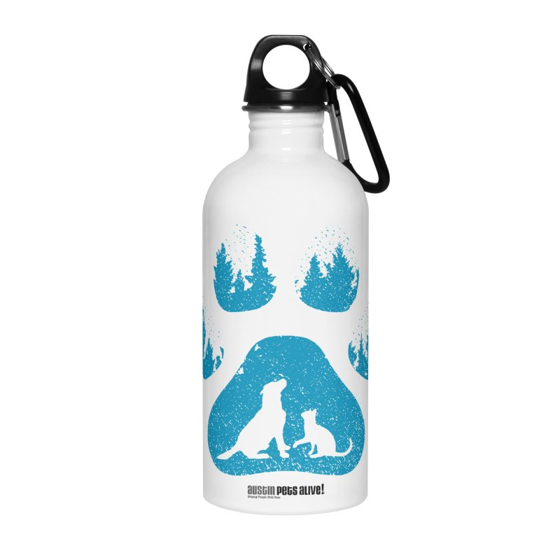 Forest Paw Accessories Water Bottle by Austin Pets Alive's Artist Shop