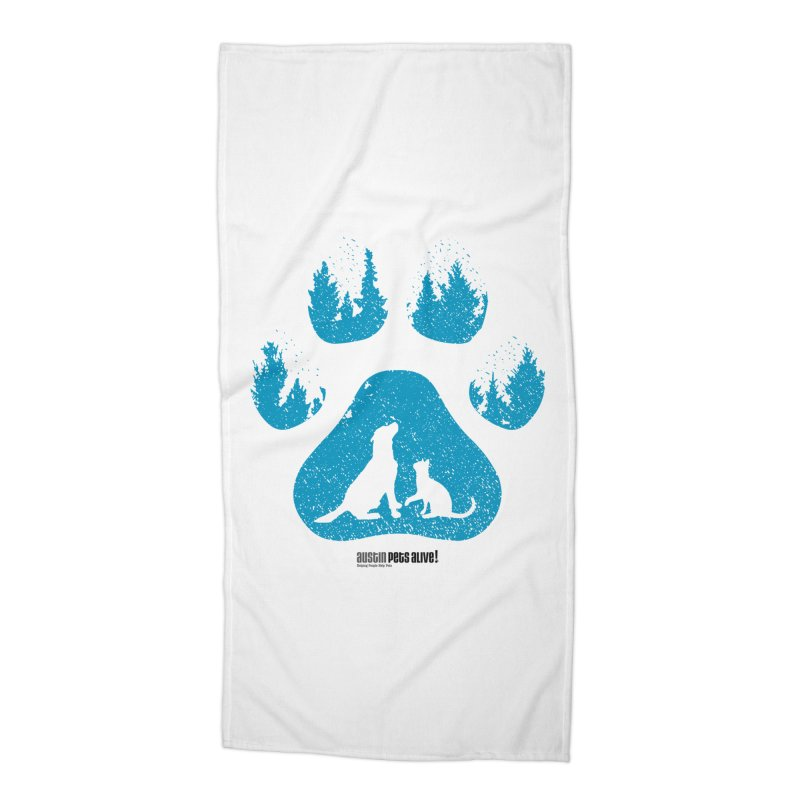 Forest Paw Accessories Beach Towel by Austin Pets Alive's Artist Shop