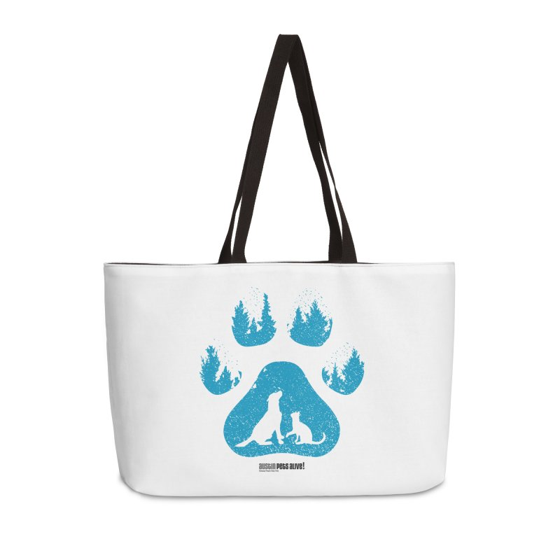 Forest Paw Accessories Weekender Bag Bag by Austin Pets Alive's Artist Shop