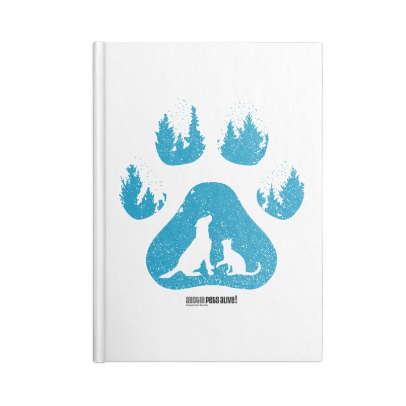Forest Paw Accessories Lined Journal Notebook by Austin Pets Alive's Artist Shop