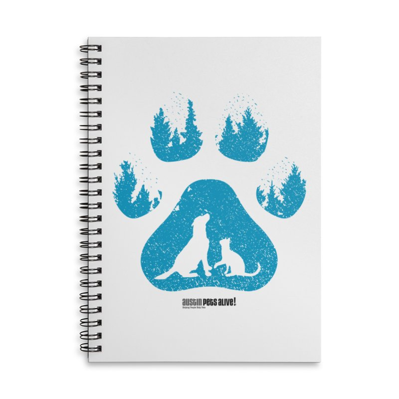 Forest Paw Accessories Lined Spiral Notebook by Austin Pets Alive's Artist Shop