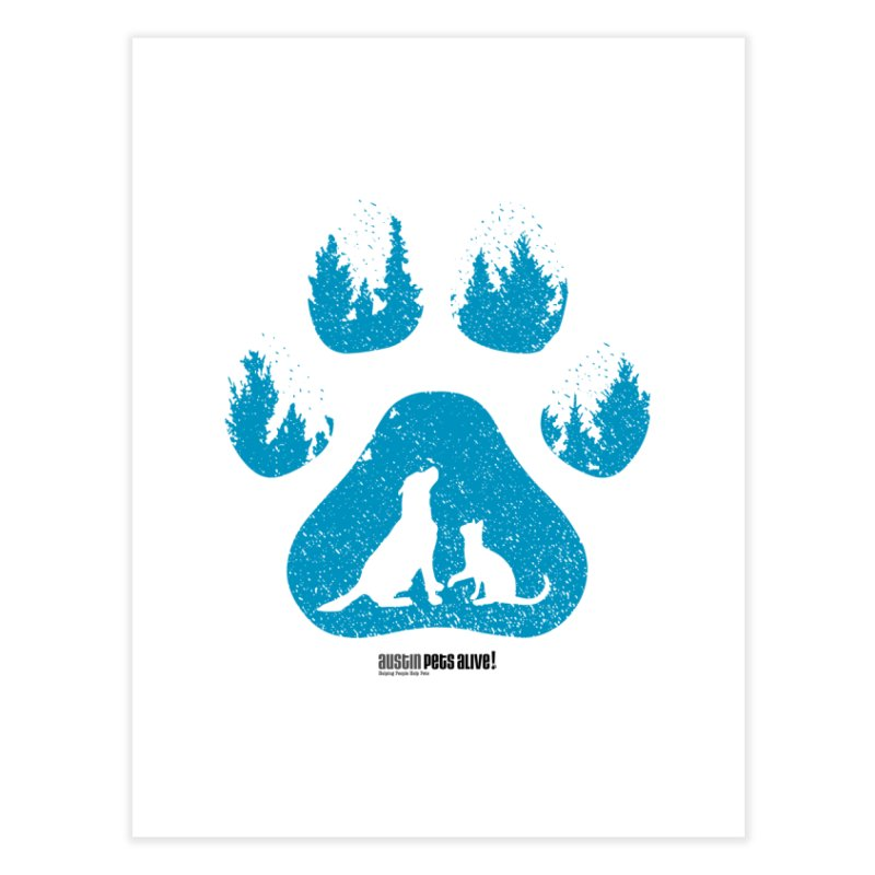 Forest Paw Home Fine Art Print by Austin Pets Alive's Artist Shop