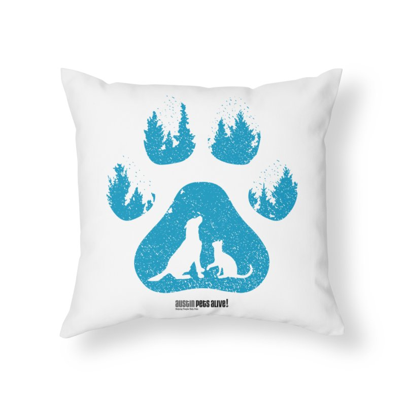 Forest Paw Home Throw Pillow by Austin Pets Alive's Artist Shop