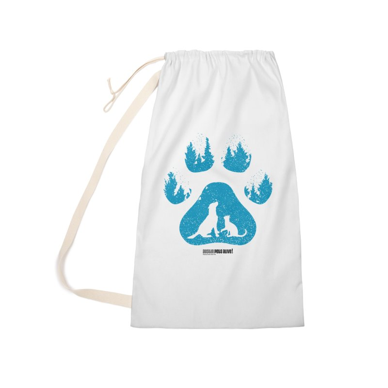 Forest Paw Accessories Laundry Bag Bag by Austin Pets Alive's Artist Shop