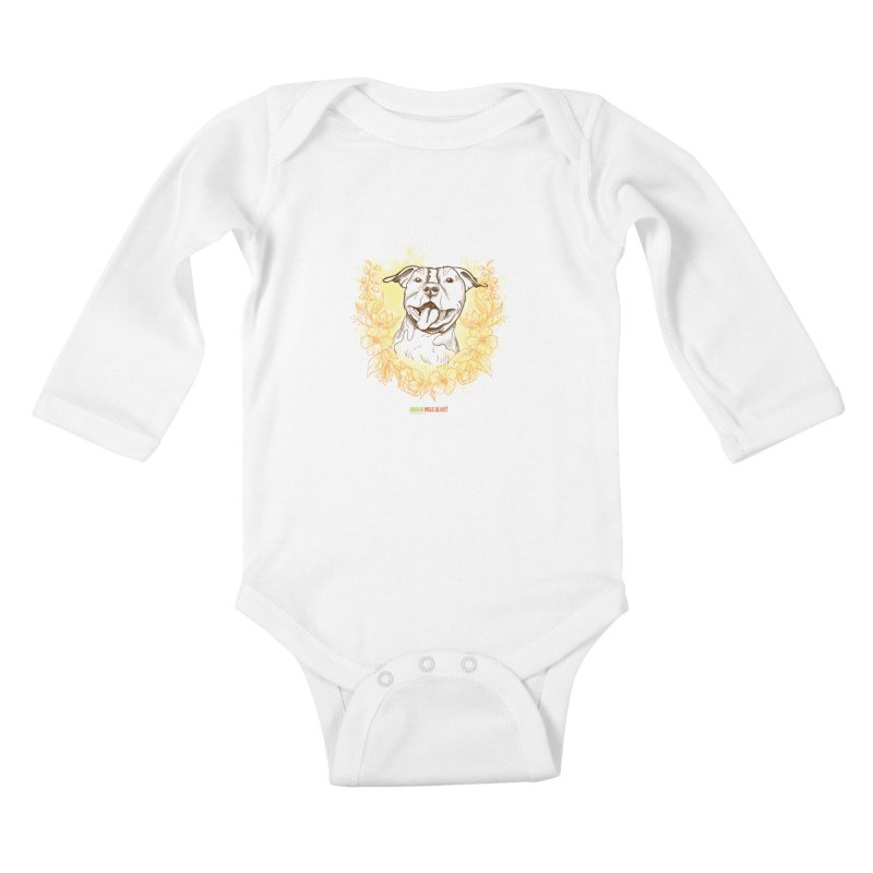 Ray of Sunshine Kids Baby Longsleeve Bodysuit by Austin Pets Alive's Artist Shop