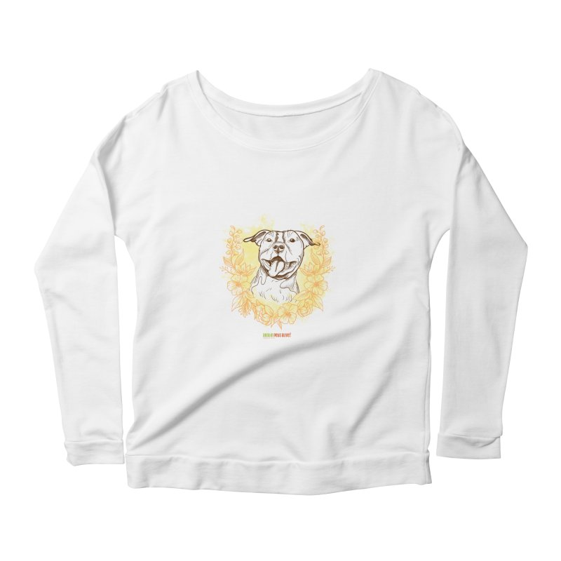 Ray of Sunshine Women's Scoop Neck Longsleeve T-Shirt by Austin Pets Alive's Artist Shop