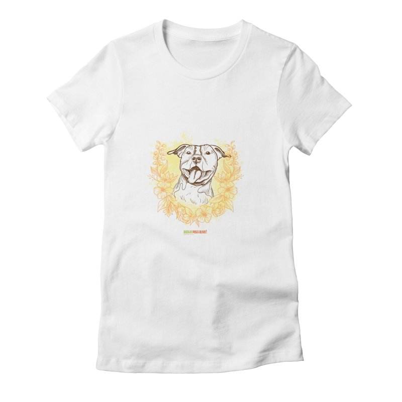 Ray of Sunshine Women's Fitted T-Shirt by Austin Pets Alive's Artist Shop