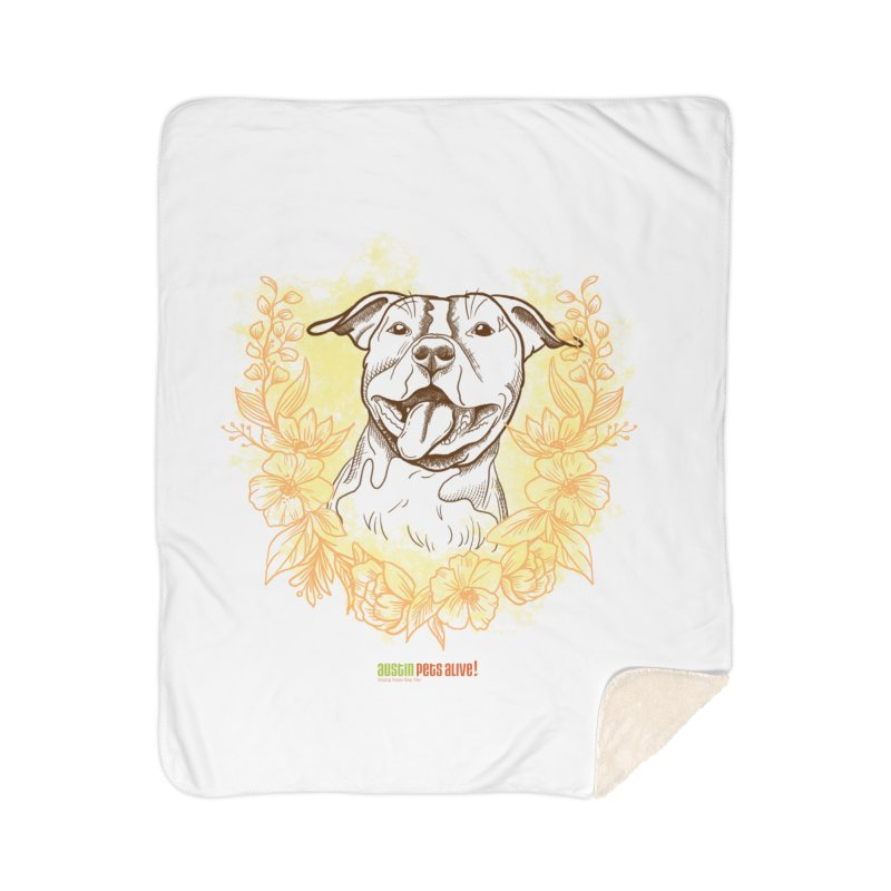 Ray of Sunshine Home Sherpa Blanket Blanket by Austin Pets Alive's Artist Shop