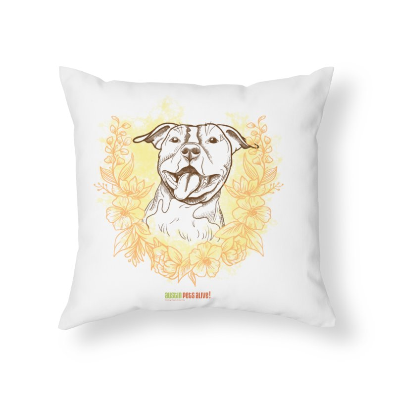 Ray of Sunshine Home Throw Pillow by Austin Pets Alive's Artist Shop