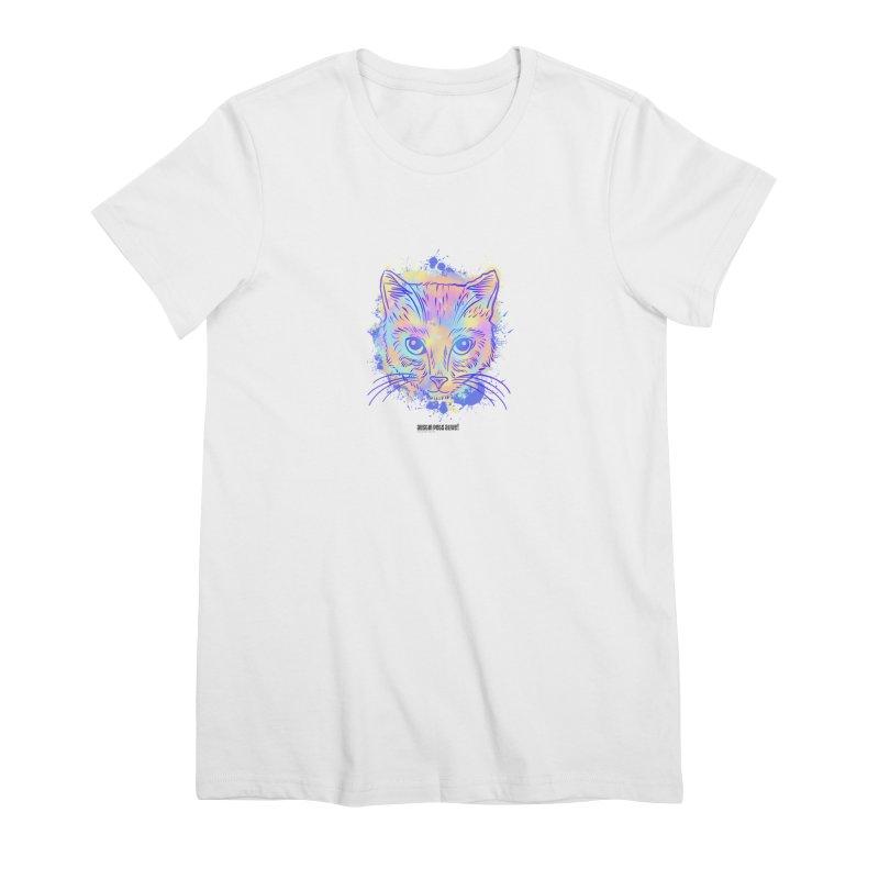 Groovy Cat Women's Premium T-Shirt by Austin Pets Alive's Artist Shop