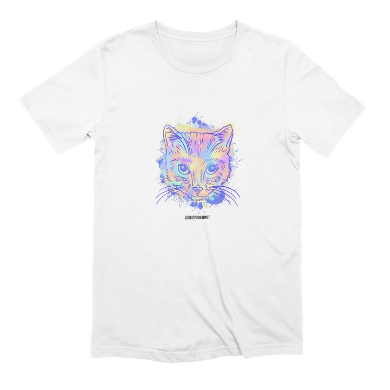 Groovy Cat Men's Extra Soft T-Shirt by Austin Pets Alive's Artist Shop