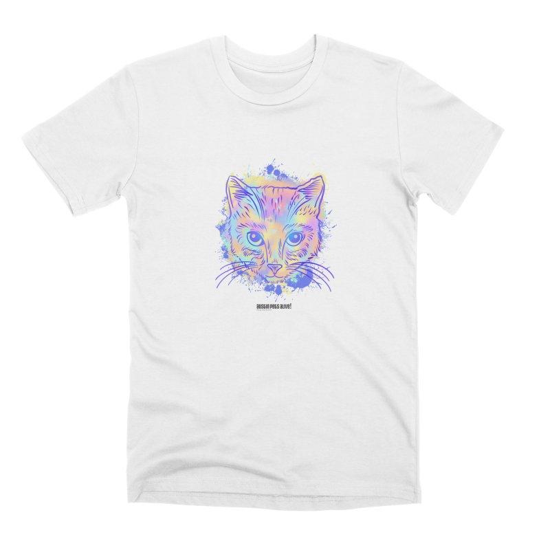 Groovy Cat Men's Premium T-Shirt by Austin Pets Alive's Artist Shop