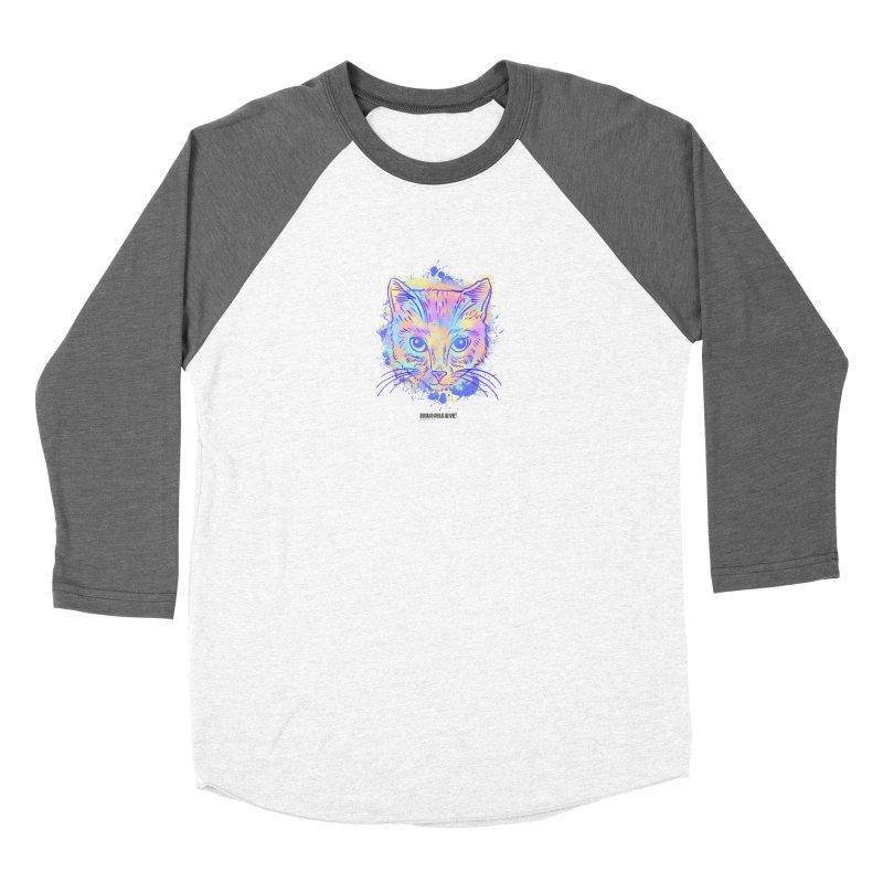Groovy Cat Women's Baseball Triblend Longsleeve T-Shirt by Austin Pets Alive's Artist Shop
