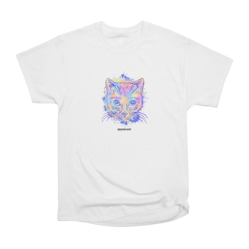 Groovy Cat Men's Heavyweight T-Shirt by Austin Pets Alive's Artist Shop