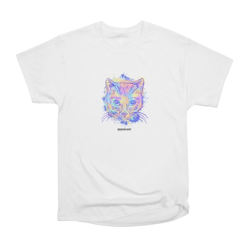 Groovy Cat Women's Heavyweight Unisex T-Shirt by Austin Pets Alive's Artist Shop