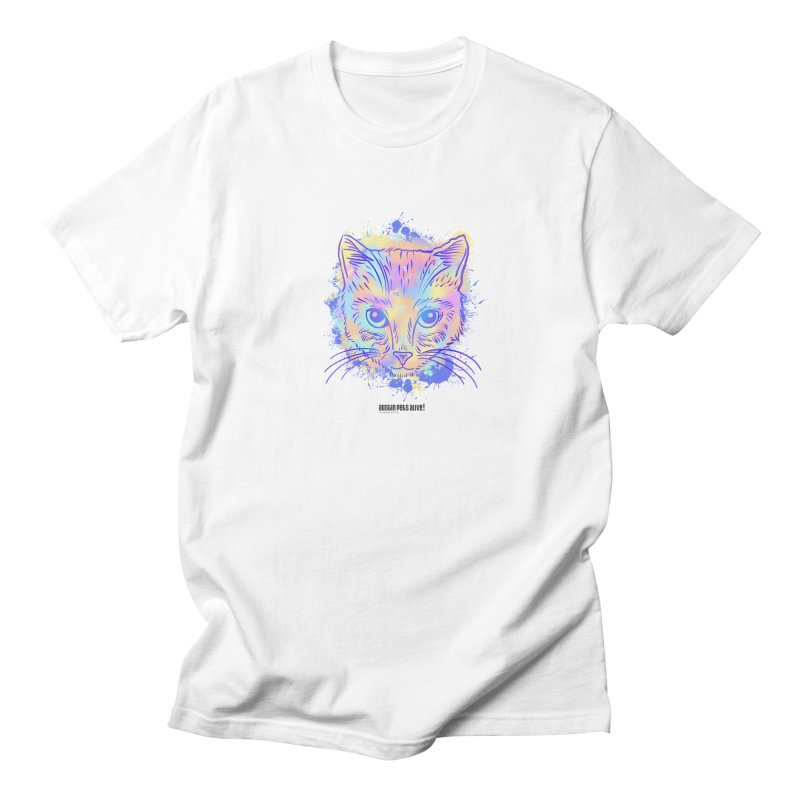 Groovy Cat Men's Regular T-Shirt by Austin Pets Alive's Artist Shop