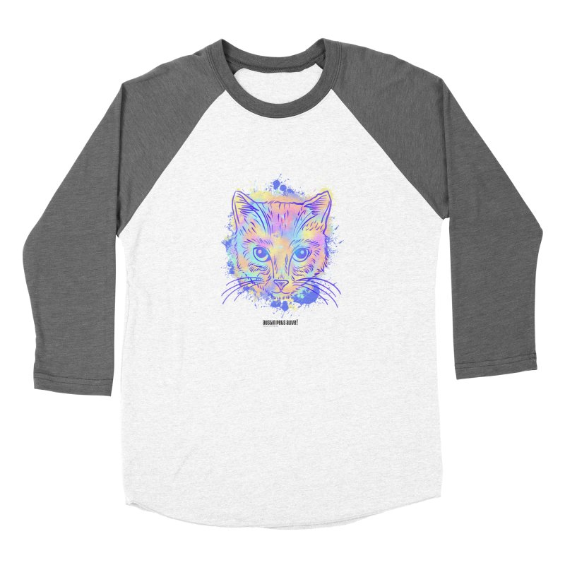 Groovy Cat Men's Baseball Triblend Longsleeve T-Shirt by Austin Pets Alive's Artist Shop