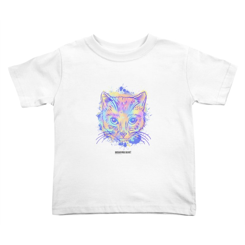 Groovy Cat Kids Toddler T-Shirt by Austin Pets Alive's Artist Shop