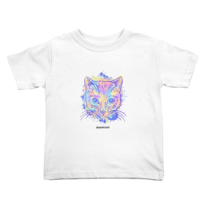 Groovy Cat Kids Toddler T-Shirt by Austin Pets Alive's Artist Shop