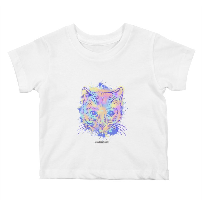 Groovy Cat Kids Baby T-Shirt by Austin Pets Alive's Artist Shop