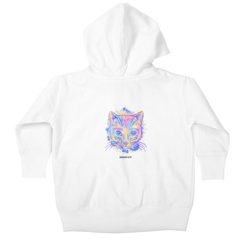 Groovy Cat Kids Baby Zip-Up Hoody by Austin Pets Alive's Artist Shop