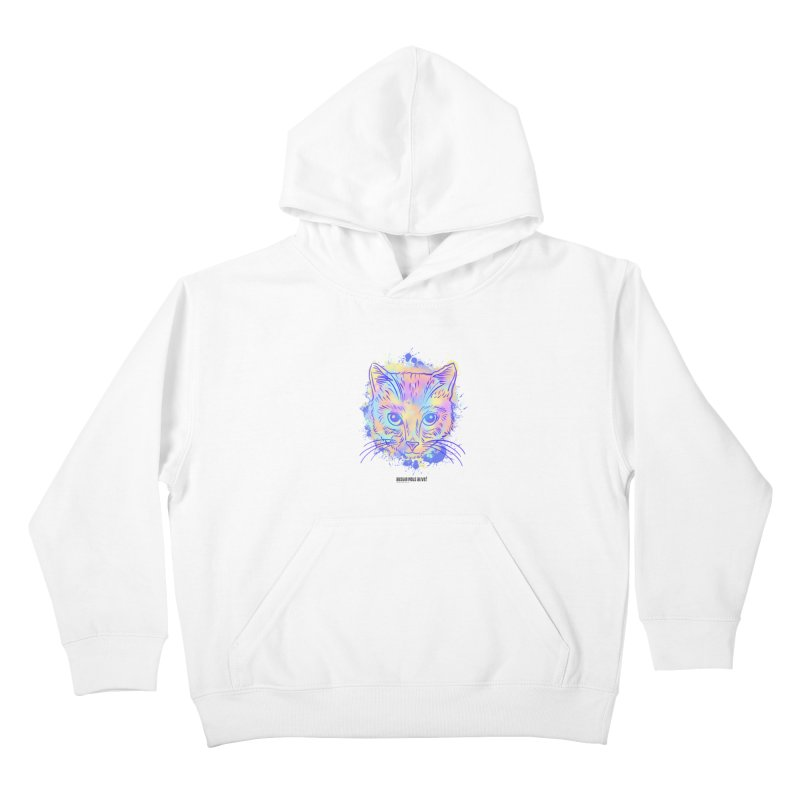 Groovy Cat Kids Pullover Hoody by Austin Pets Alive's Artist Shop